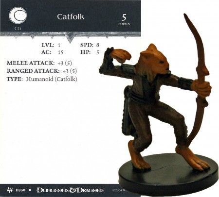 Catfolk #11 Archfiends D&D Miniatures