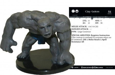 Clay Golem #25 Archfiends D&D Miniatures