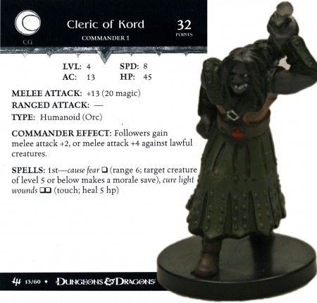 Cleric of Kord #13 Archfiends D&D Miniatures
