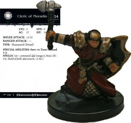 Cleric of Moradin #01 Dragoneye D&D Miniatures
