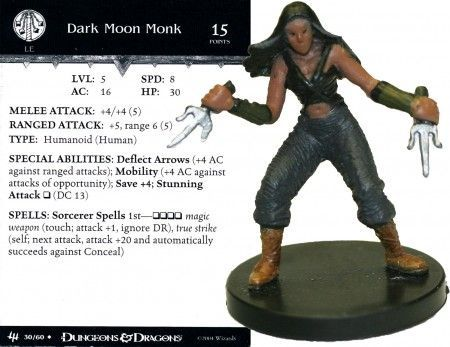 Dark Moon Monk #30 Archfiends D&D Miniatures