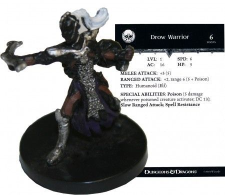 Drow Warrior #49 Dragoneye D&D Miniatures