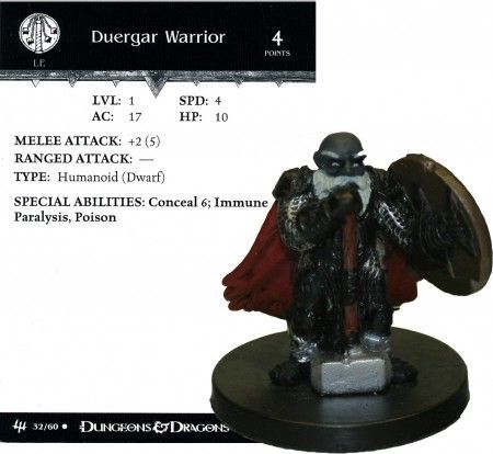 Duergar Warrior #32 Archfiends D&D Miniatures
