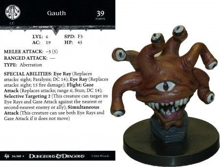 Gauth (Beholder) #34 Archfiends D&D Miniatures
