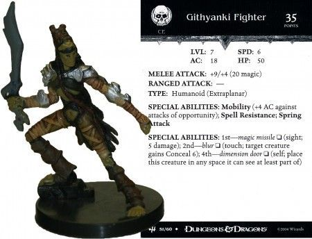 Githyanki Fighter #51 Archfiends D&D Miniatures