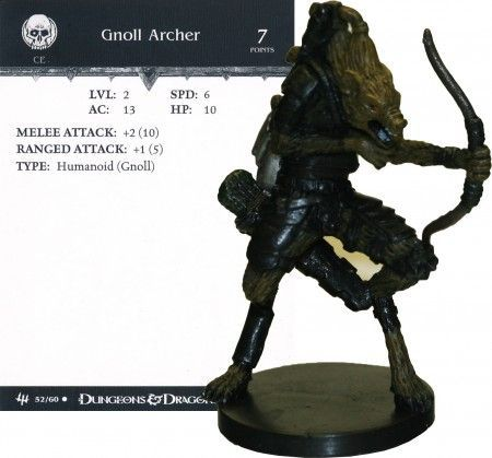 Gnoll Archer #52 Archfiends D&D Miniatures