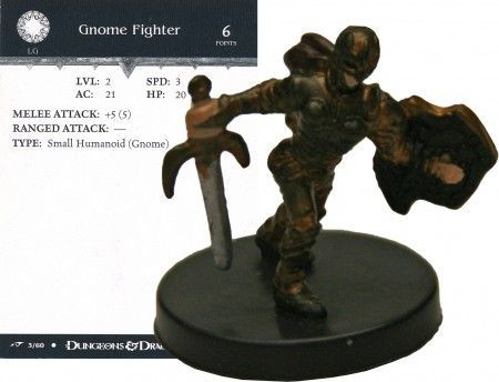 Gnome Fighter #03 Dragoneye D&D Miniatures