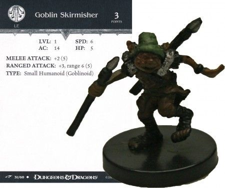Goblin Skirmisher #31 Dragoneye D&D Miniatures