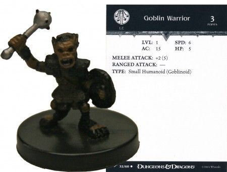 Goblin Warrior #32 Dragoneye D&D Miniatures