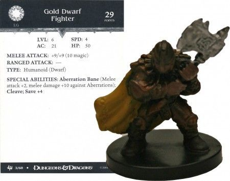 Gold Dwarf Fighter #03 Archfiends D&D Miniatures