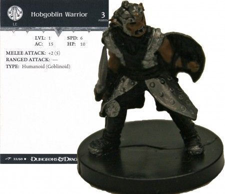 Hobgoblin Warrior #33 Dragoneye D&D Miniatures
