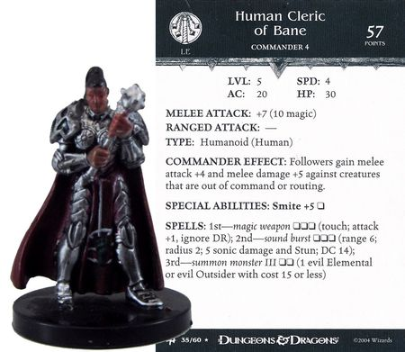 Human Cleric of Bane #35 Archfiends D&D Miniatures