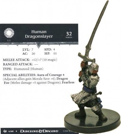 Human Dragonslayer #04 Archfiends D&D Miniatures