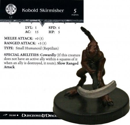 Kobold Skirmisher #35 Dragoneye D&D Miniatures