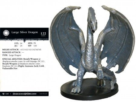 Large Silver Dragon #05 Archfiends D&D Miniatures
