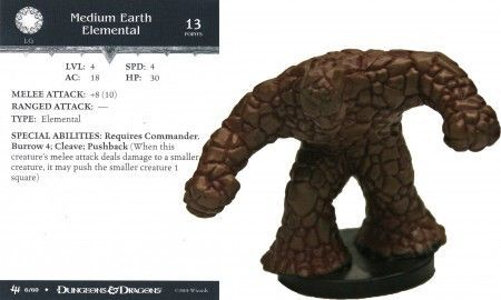 Medium Earth Elemental #06 Archfiends D&D Miniatures