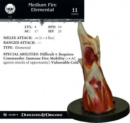 Medium Fire Elemental #54 Archfiends D&D Miniatures
