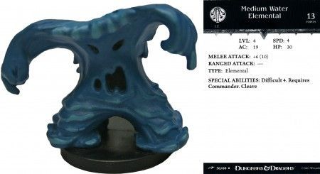Medium Water Elemental #36 Dragoneye D&D Miniatures