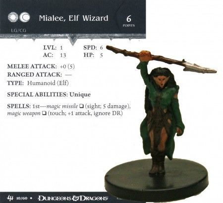Mialee, Elf Wizard #10 Archfiends D&D Miniatures