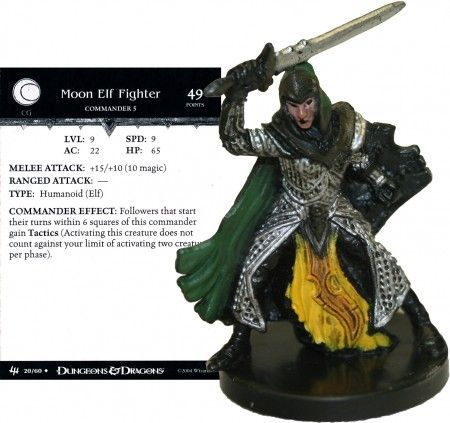 Moon Elf Fighter #20 Archfiends D&D Miniatures