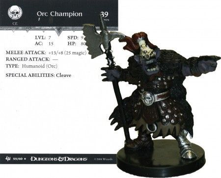 Orc Champion #55 Archfiends D&D Miniatures