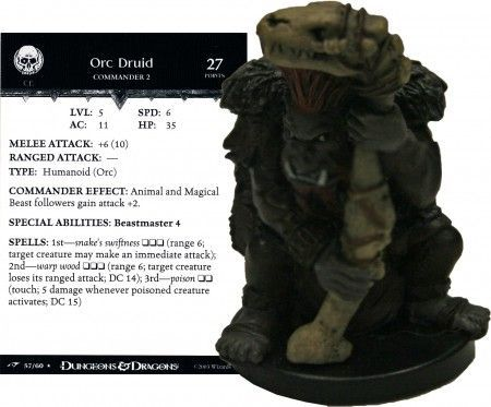 Orc Druid #57 Dragoneye D&D Miniatures