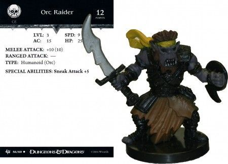 Orc Raider #56 Archfiends D&D Miniatures
