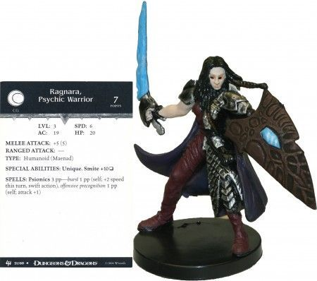 Ragnara, Psychic Warrior #21 Archfiends D&D Miniatures