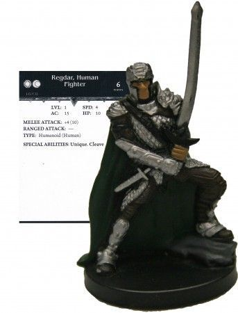 Regdar, Human Fighter #12 Dragoneye D&D Miniatures
