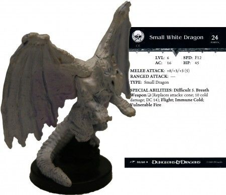 Small White Dragon #59 Dragoneye D&D Miniatures
