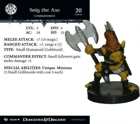 Snig the Axe #38 Archfiends D&D Miniatures