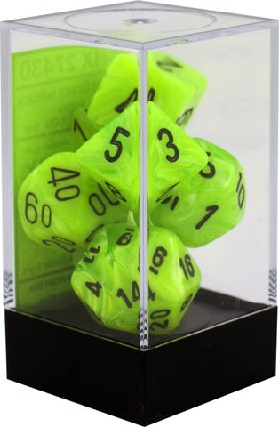 7-set Cube - Vortex Bright Green with Black