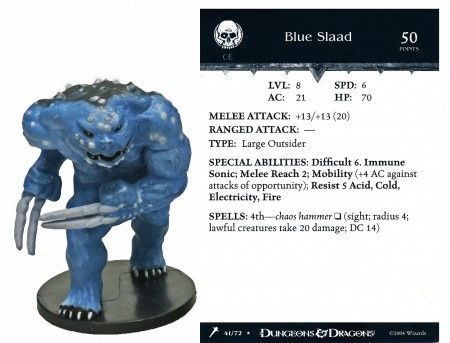Blue Slaad #41 Giants of Legend D&D Miniatures