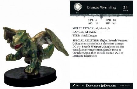 Bronze Wyrmling #01 Giants of Legend D&D Miniatures