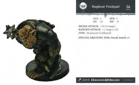Bugbear Footpad #42 Giants of Legend D&D Miniatures