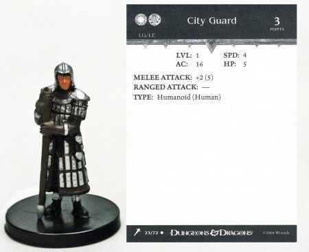 City Guard #23 Giants of Legend D&D Miniatures