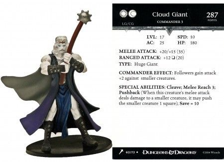 Cloud Giant #62 Giants of Legend D&D Miniatures