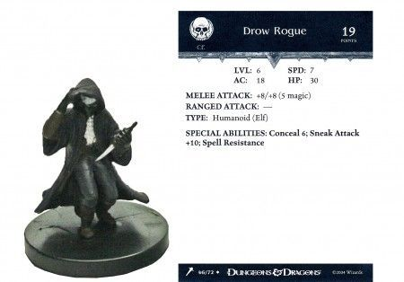Drow Rogue #46 Giants of Legend D&D Miniatures