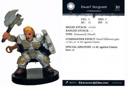 Dwarf Sergeant #02 Giants of Legend D&D Miniatures