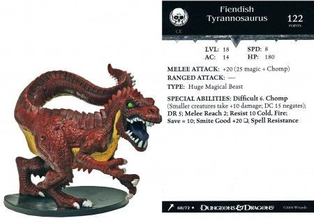 Fiendish Tyrannosaurus #68 Giants of Legend D&D Miniatures