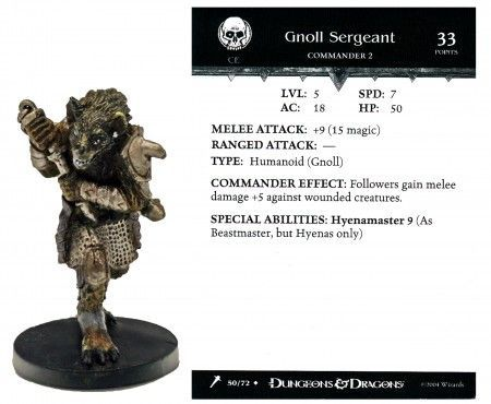 Gnoll Sergeant #50 Giants of Legend D&D Miniatures