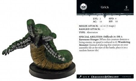 Grick #51 Giants of Legend D&D Miniatures