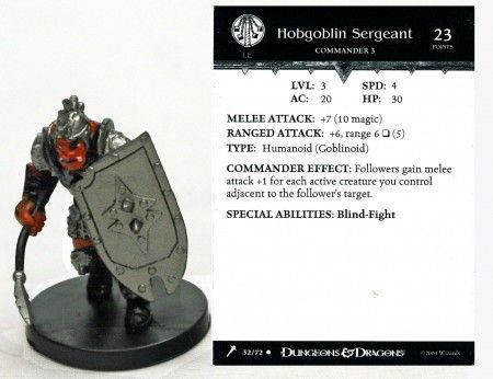 Hobgoblin Sergeant #32 Giants of Legend D&D Miniatures
