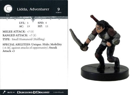 Lidda, Adventurer #19 Giants of Legend D&D Miniatures