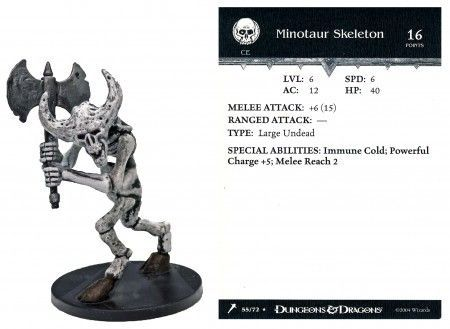 Minotaur Skeleton #55 Giants of Legend D&D Miniatures