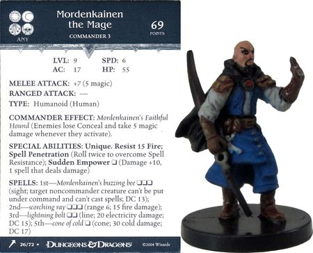 Mordenkainen the Mage #26 Giants of Legend D&D Miniatures