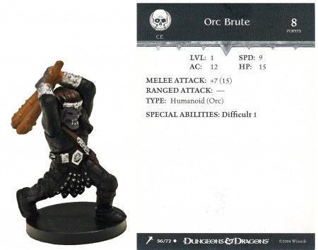 Orc Brute #56 Giants of Legend D&D Miniatures