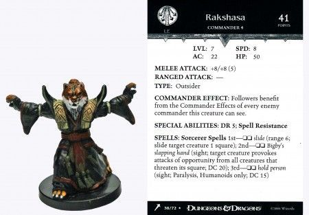 Rakshasa #38 Giants of Legend D&D Miniatures