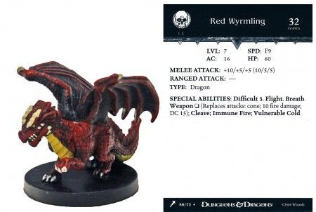 Red Wyrmling #58 Giants of Legend D&D Miniatures