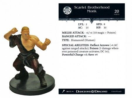 Scarlet Brotherhood Monk #39 Giants of Legend D&D Miniatures